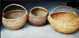 woven bamboo baskets - from the olde world - 3 to go