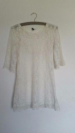 cbc64c1cd3 Biała koronkowa sukienka koronka h m 34 xs Gdynia Leszczynki • OLX.pl
