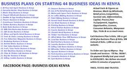 Start a Business In Kenya - 44 Business Plans