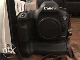 Canon EOS 5D Mark III DSLR, BG-E11 vertical and two batteries