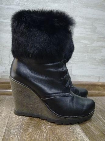 Кожаные зимние сапоги kento на танкетке 39  580 грн. - Женская обувь ... 1d53a342e0139