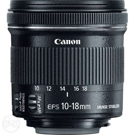 Canon lens 10 18 efs stm wide angle