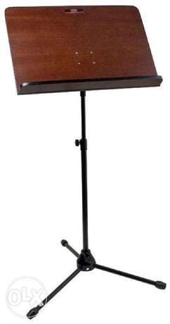 Stagg Orchestral music stand with wooden music rest
