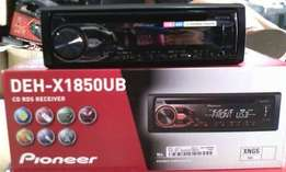 PIONEER DEH X1850UB MP3 USB CD Receiver Plus 6 inch Speaker combo.