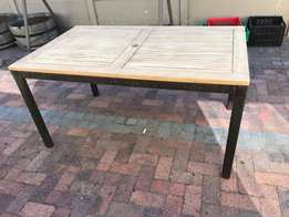 Outdoor table for sale/Teak top