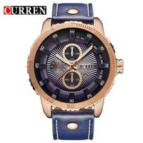New Fashionable Curren Watch with Leather strap! Blue Color60