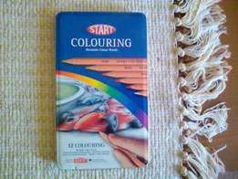 12 Colouring pencils made by derwent