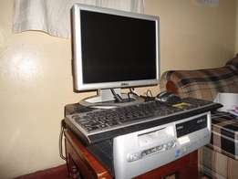 HP desktop PC and dell 14 inch tft monitor