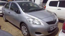 Toyota belta silver in color