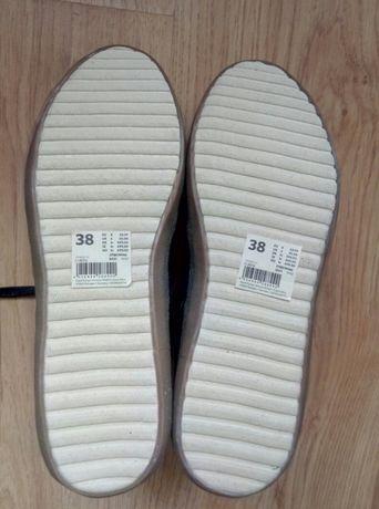 2f098556221df Esprit nowe buty 38 damskie czarne trampki sneakersy tenisówki półbuty  Kraków - image 6
