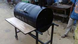 Xmas BBQ drum grill on Promo