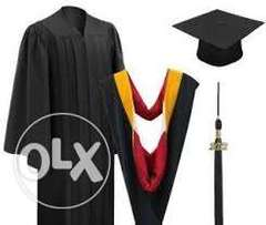 Graduation gowns for hire