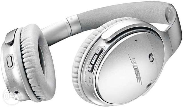Bose QC 35 II (Silver) Wireless Bluetooth Headphones, Noise-Cancelling