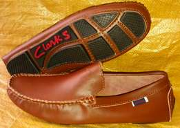 Clarks leather loafer shoes