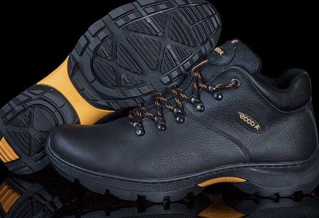 Мужские кожаные зимние ботинки Ecco 924a6491688be