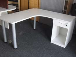 5 L Shape Desk with 1D Day Filer Pedestal, CapeOffice2nds!!
