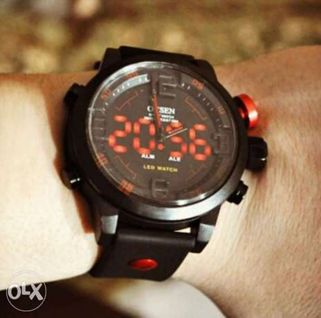 Sport_black_red_led_watch