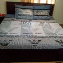 7 × 7 Giorgio Armani Inspired Cotton Bed-Sheet With 4 Pillow Covers