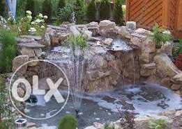 Fountain landscaping