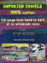 Towels at re-wholesale prices