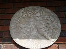 Garden Angel Cement wall plates x 2