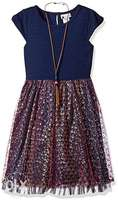 Youngland Big Girls Dress with Necklace - 14-16Yrs