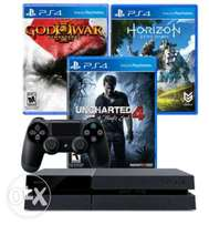 Brand New PS4 500GB Slim Console +Uncharted 4, Zero Dawn & God of War