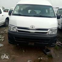 A clean and sound Toyota Hiacebus registered high roof 2012model