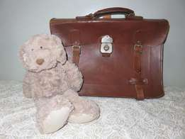 Genuine Leather Vintage School Bag