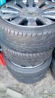 "Mags for sale with tyres ""18"" 100/112 x 5 hole"