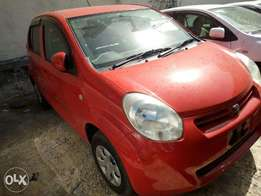Red Toyota passo car on sale