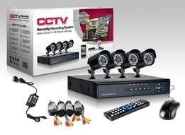 CCTV-4 Channels Kit DVR with 900TVL dome or bullet night vision camera