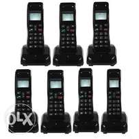 Mobile Wireless Intercom Phone - 7 Extensions Cordless Handsets