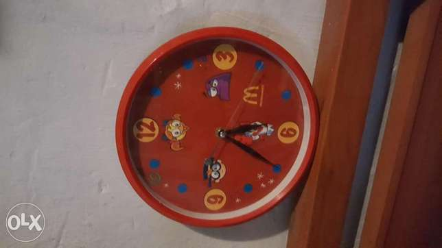 Macdonalds clock wall.