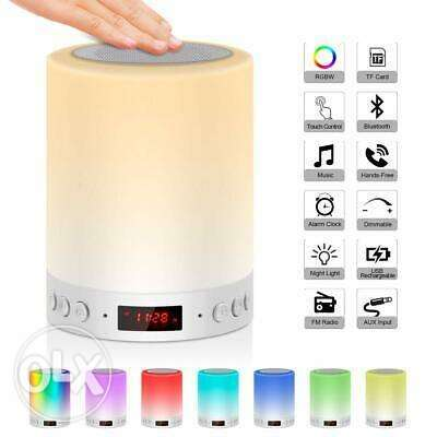 Bedside Lamp Mood Light with Bluetooth Speaker Wake Up Light with FM