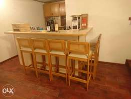 Bar and chairs for sale