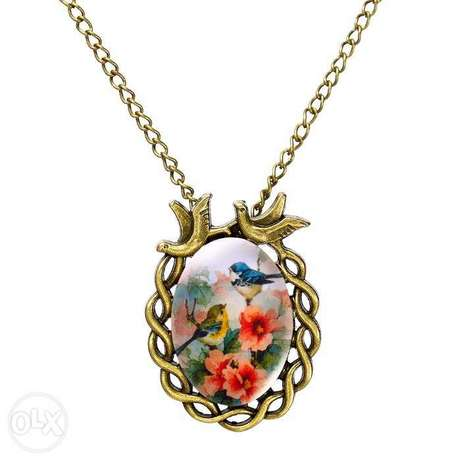 Women Vintage Floral Bird Statement Necklace Nairobi CBD - image 1