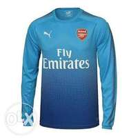 Arsenal Official Away Long Sleeves Blue Jersey