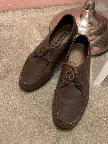 Skórzane półbuty trzewiki brązowe 40 ecco skóra buty