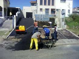Tarring and paving bricks specialist