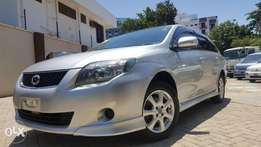 Toyota fielder aero tourer si edition loaded with sports spoiler SILVE