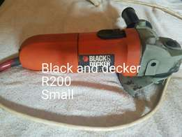 Black and decker small angle grinder
