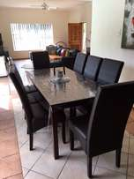 Dining room set - 8 seater