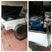 Trailer with fishing equipment (Visstokke)