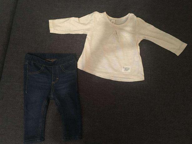 7a7248c68a958 Spodnie/legginsy H&M, bluzka Reserved r. 68 Stare Babice - image 1
