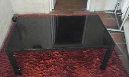 coffee table black glass top