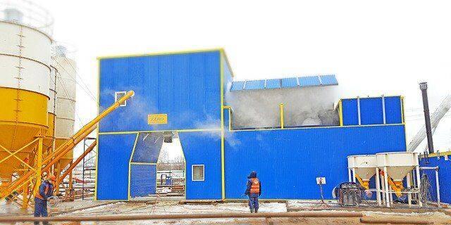 ZZBO flagman-60  mobilnyy zimniy concrete plant