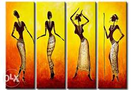 African women pose paintings