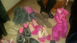 14 pairs of girls shoes