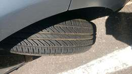 DUNLOP TYRES with rims Size R14 With 95% life